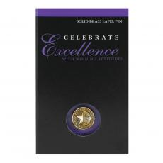 Medallion Lapel Pins - Celebrating Excellence Medallion Lapel Pin