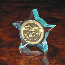 Medallion Holders - Clear Winner Jade Star Medallion Holder
