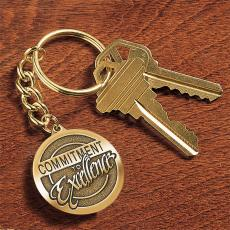 Medallion Keychains - Commitment to Excellence Medallion Key Chain