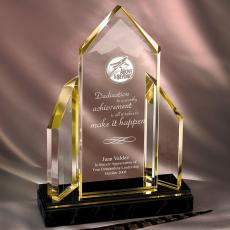 Acrylic Trophies - Reflecting Achievement Acrylic Award - Above & Beyond