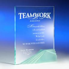 Colored Acrylic Awards - Starfire Teamwork Acrylic Award
