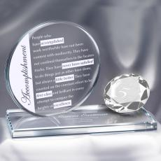 Diamond Brilliant Accomplishment Crystal Award