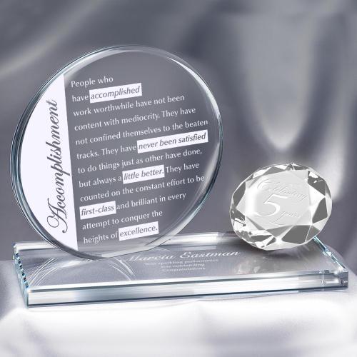 Diamond Brilliant Accomplishment Crystal Award