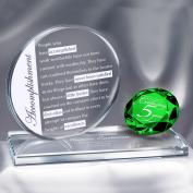 Emerald Brilliant Accomplishment Crystal Award Customer Service Week (752427)