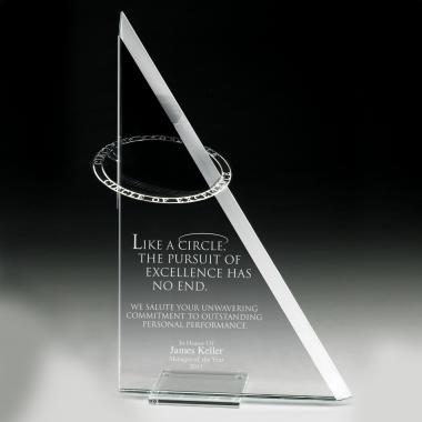 Pursuit of Excellence Crystal Award