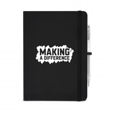 Making a Difference Metallic Rugged Notebook