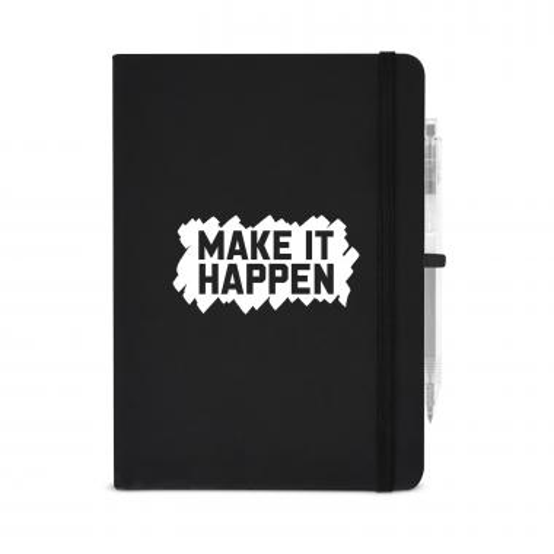 Make It Happen Metallic Rugged Notebook
