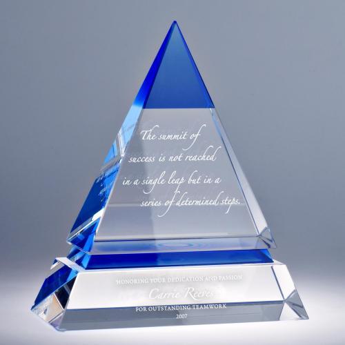 Accolade Pyramid Crystal Award