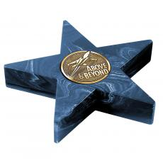 Metal, Stone and Cast Awards - Navy Mini Star Award