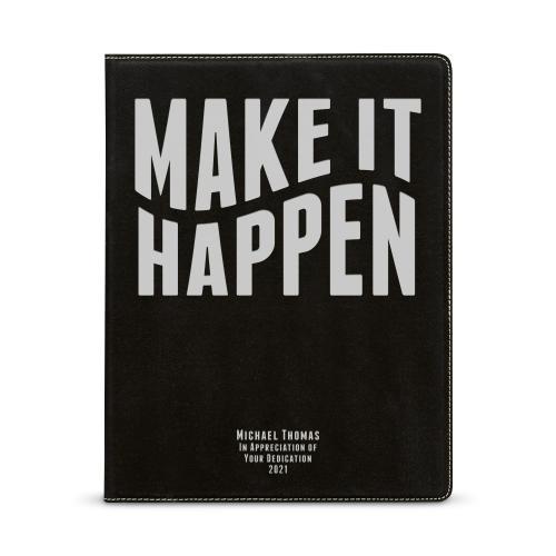 Make It Happen Personalized Vegan Leather Padfolio