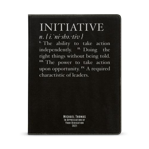 Initiative Definition Personalized Vegan Leather Padfolio