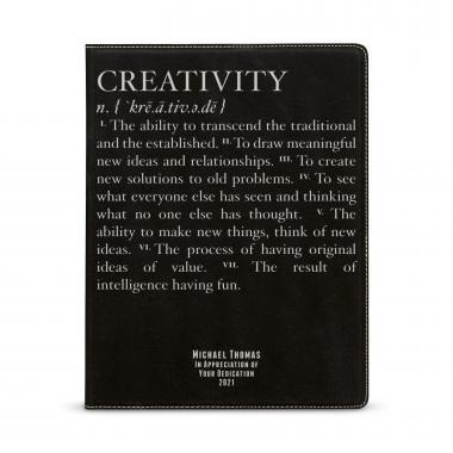 Creativity Definition Personalized Vegan Leather Padfolio
