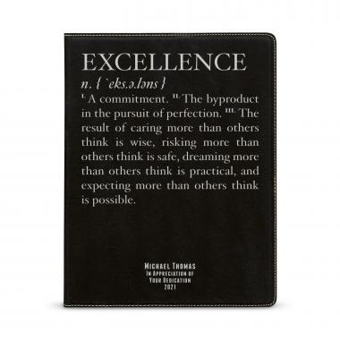 Excellence Definition Personalized Vegan Leather Padfolio