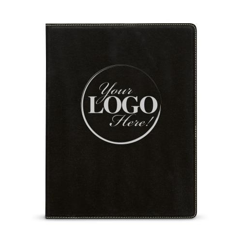 Custom Logo Personalized Vegan Leather Padfolio