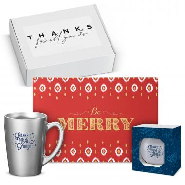 Thanks for All You Do Be Merry Metallic Gift Box