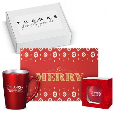 Making a Difference Be Merry Metallic Gift Box