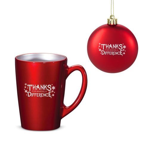 Making a Difference Metallic Mug & Ornament Gift Set