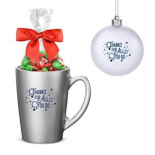 Thanks for All You Do Metallic Mug Holiday Set