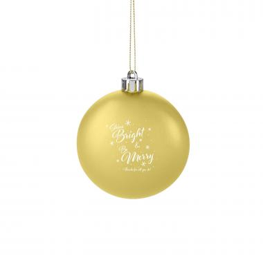 Bright & Merry Holiday Ornament