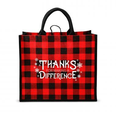 Making a Difference Plaid Tote