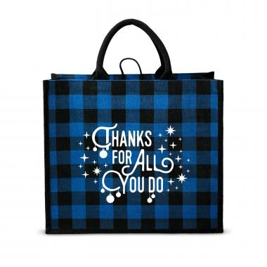 Thanks for All You Do Plaid Tote