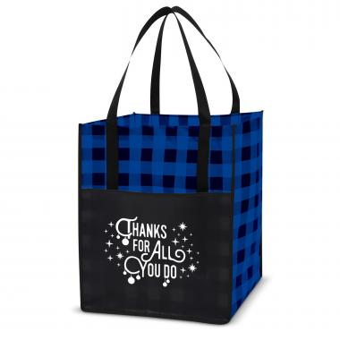 Thanks for All You Do Value Plaid Tote