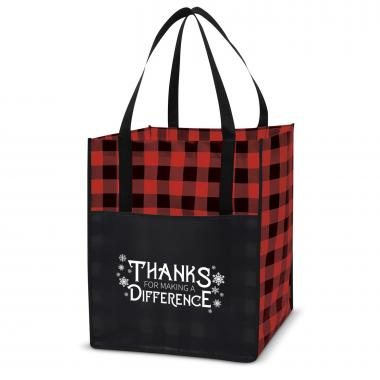 Making a Difference Value Plaid Tote
