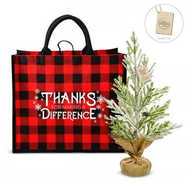 Making a Difference Plaid & Pine Gift Set