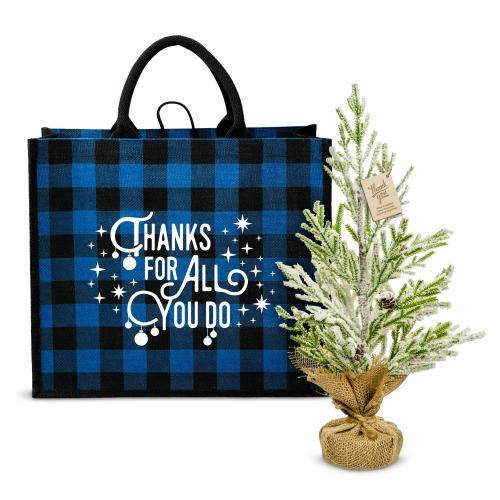 Thanks for All You Do Plaid & Pine Gift Set