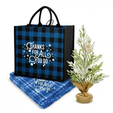 Thanks for All You Do Plaid & Pine Cozy Gift Set