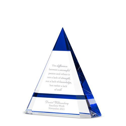 Pinnacle Pyramid Crystal Award