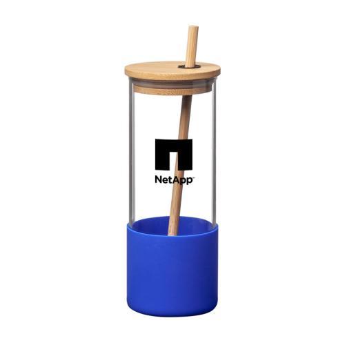 Shanti Borosilicate Tumbler w/Bamboo Lid/Straw - 17oz
