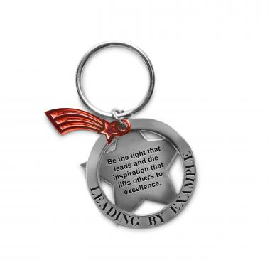 Leading by Example Metal Keychain
