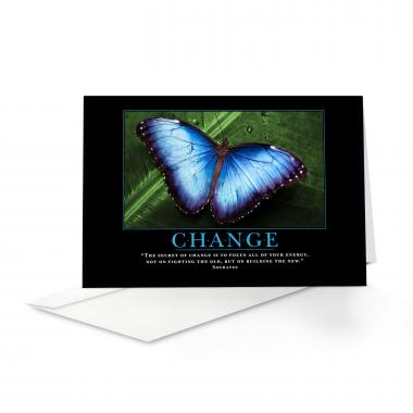 Change Butterfly Greeting Cards