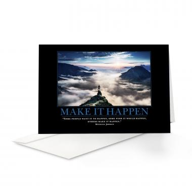 Make It Happen Mountain Greeting Cards
