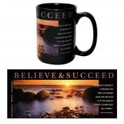 Believe & Succeed Sunset 15oz Ceramic Mug