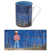Priorities Boy 2-Tone 14oz Ceramic Mug