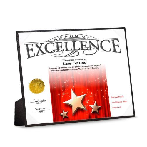 6 Pack Certificate Presentation & Display Boards