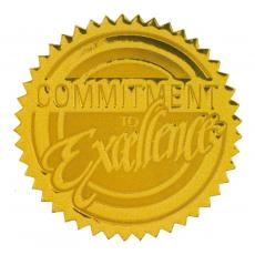 Certificate Seals - Commitment to Excellence Gold Foil Certificate Seals