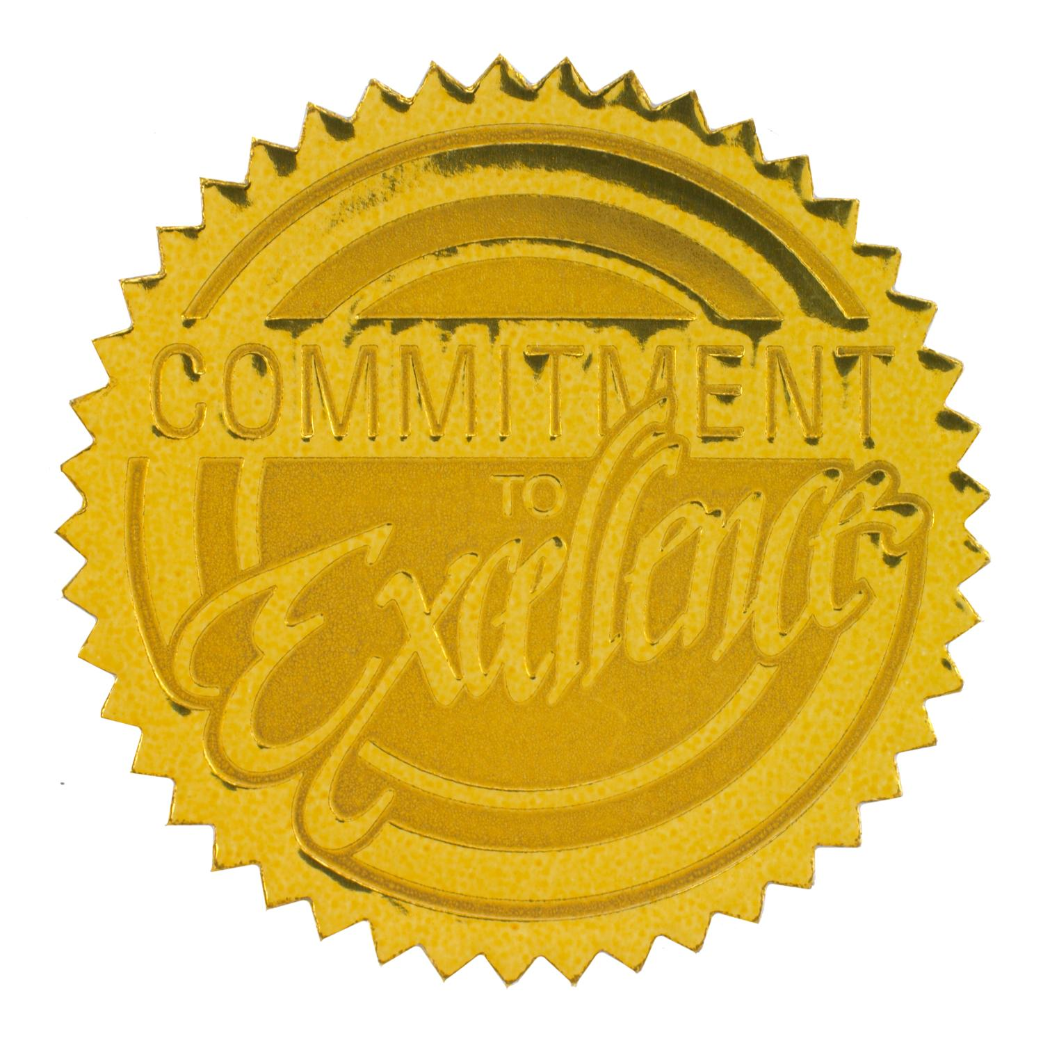 Commitment to excellence gold foil certificate seals certificate read all 2 reviews commitment to excellence gold foil certificate seals yadclub Gallery