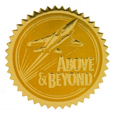 Above & Beyond Gold Foil Certificate Seals