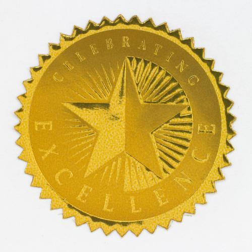 Celebrating Excellence Gold Foil Certificate Seals