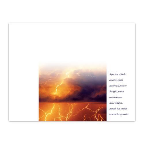 Attitude Lightning Award Certificate Paper