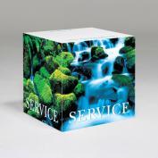 Service Waterfall Self-Stick Note Cube