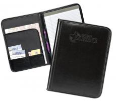 Dedicated to Excellence Black Leather Padfolio
