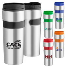 Health & Safety - 16 oz. Easy grip stainless travel tumbler