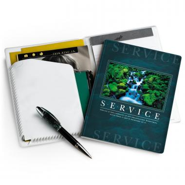 Service Waterfall Colorbrite Jr. Padfolio