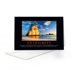 Classic Motivational Cards - Integrity Cathedral Rock 25 Pack Greeting Cards