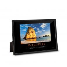 Classic Motivational Prints - Integrity Cathedral Rock Framed Desktop Print