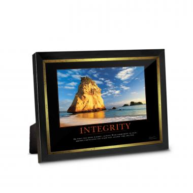 Integrity Cathedral Rock Framed Desktop Print